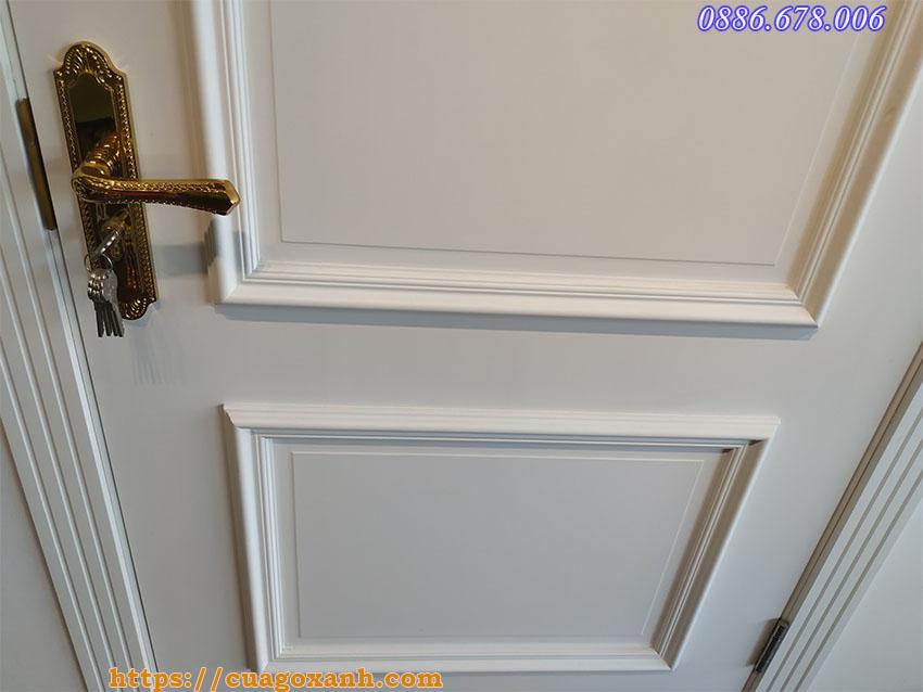 Mẫu cửa sơn theo yêu cầu với lớp bề mặt cực mịn, dễ vệ sinh