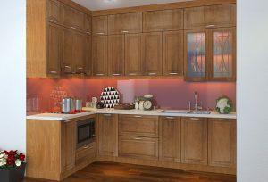 Tủ bếp gia đình phong cách hiện đại