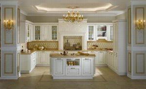 Tủ bếp gia đình phong cách tân cổ điển