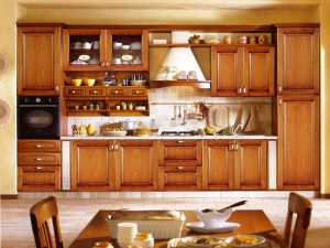 vật liệu làm tủ bếp từ gỗ tự nhiên