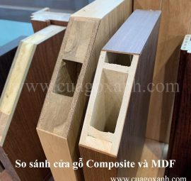 so sánh cửa gỗ composite Kingwood và cửa MDF