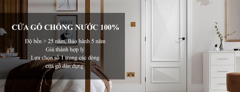 Cửa gỗ Kingwood nổi bật với khả năng chịu nước 100%