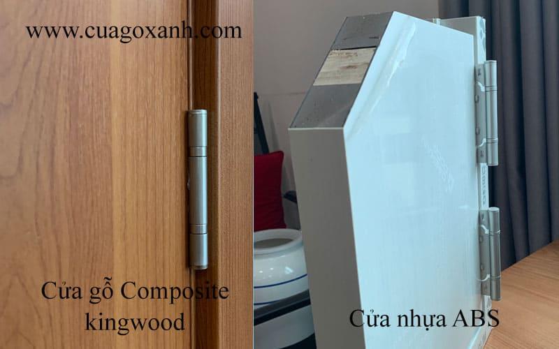 So sánh kết cấu cửa gỗ nhựa và cửa nhựa abs