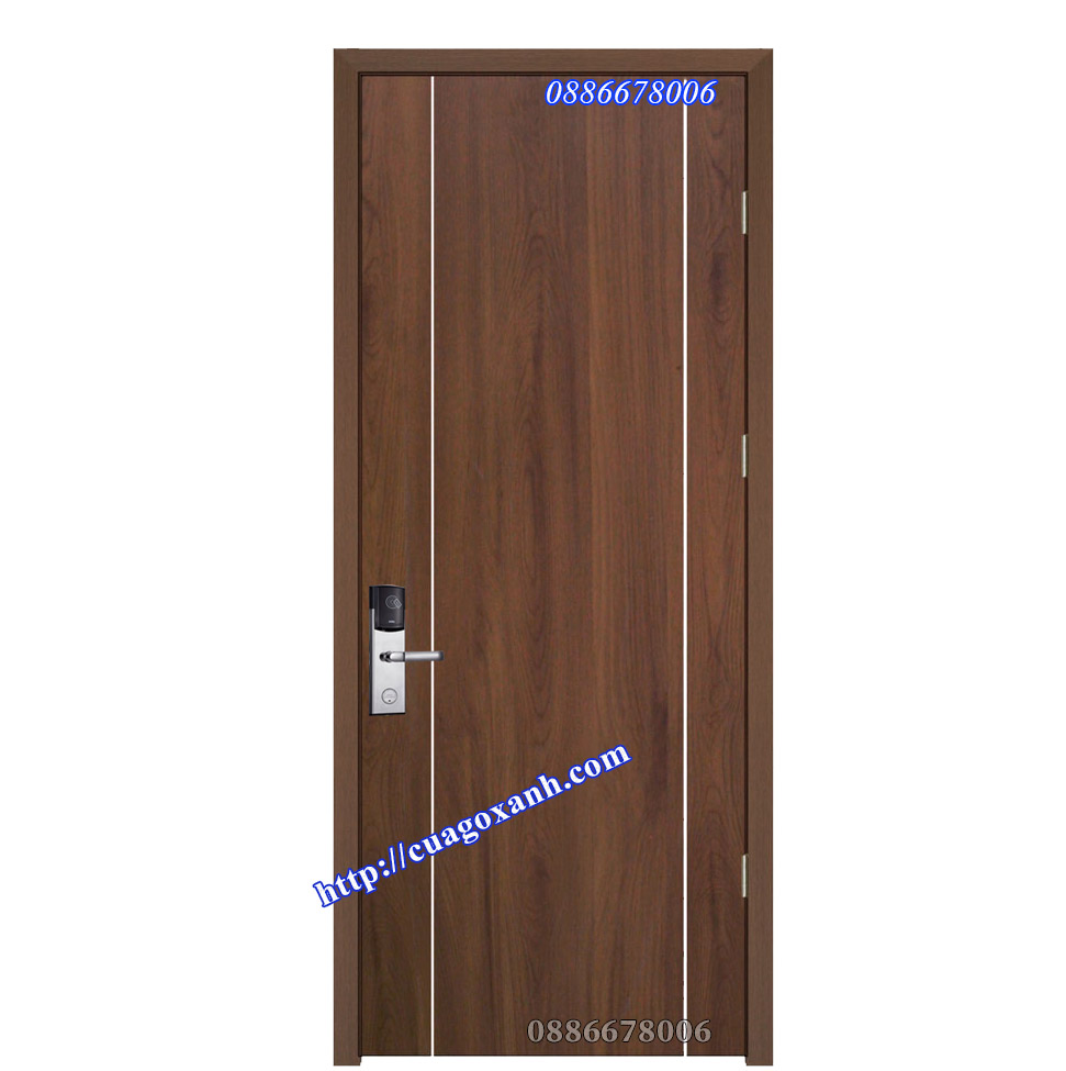 Mẫu cửa gỗ composite chỉ nhôm