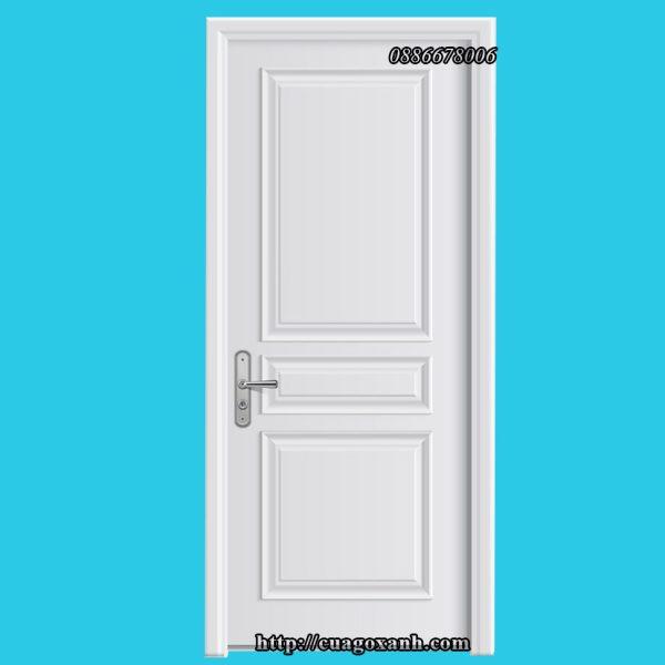Cửa gỗ composite sơn trắng theo yêu cầu